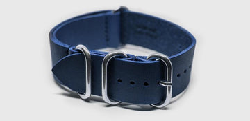 ZULU LEATHER STRAP NAVY Ferro Watches
