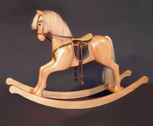 Wohnstuecke Maple Wooden Rocking Horse