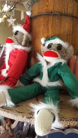 Martin Schmidt Custom Sock Monkey Santa and Elf
