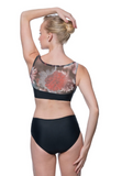 Black Alice Printed Mesh Tank Leotard LUF424 by Lulli Dancewear