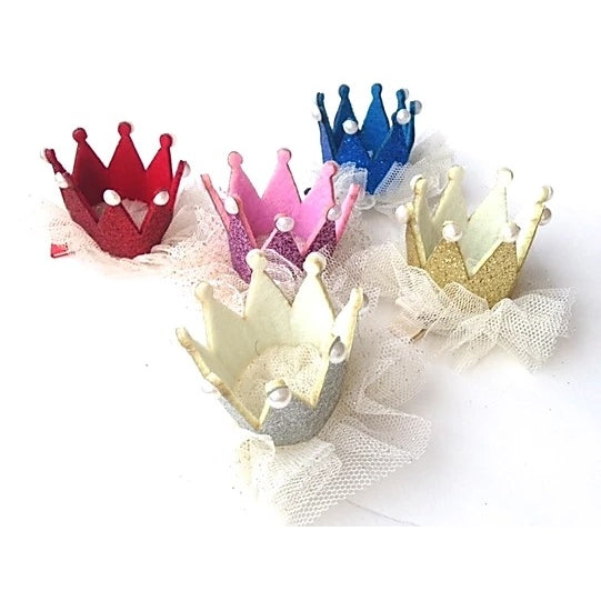 Tulle Glitter Crown by Sparkle Sisters