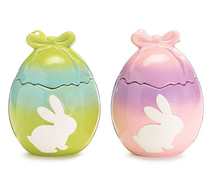 Ombre Egg Jar with Bunny Silhouette