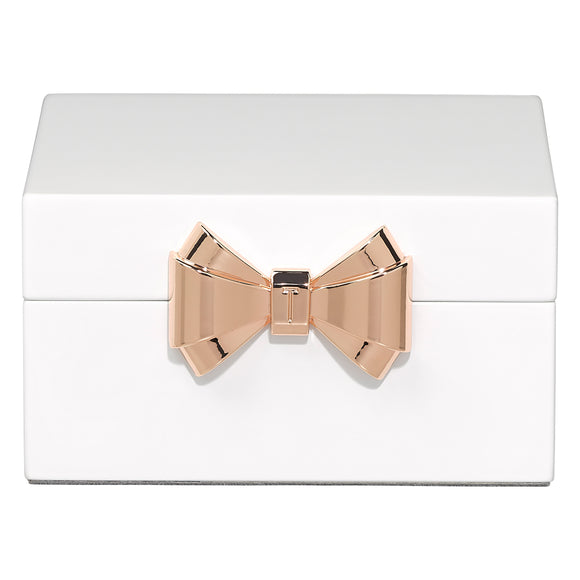 White Lacquer Jewelry Box by Ted Baker