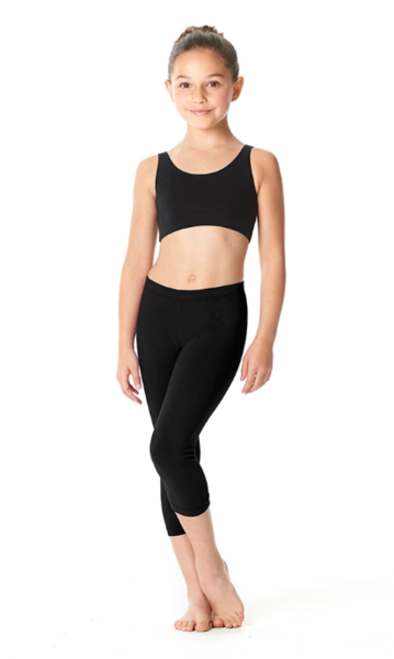 Brushed Cotton Capri Dance Leggings Rayna LUB234C by Lulli Dancewear