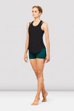 Ladies Bordeaux Mesh Tie Back Tank Top FT5232 by Bloch