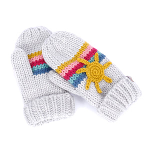 Sun and Rainbow Mittens by Peppercorn Kids
