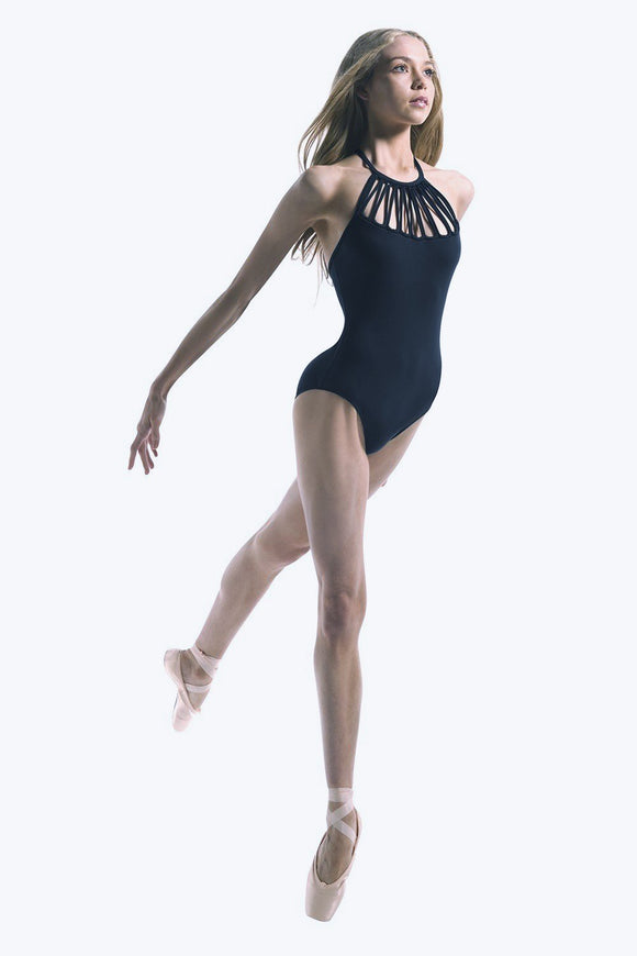 Mirella Multi Loop Front Strap Cipria Leotard- Women MJ7146
