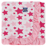 Kickee Pants Spring Anniversary Collection Print Ruffle Toddler Blanket