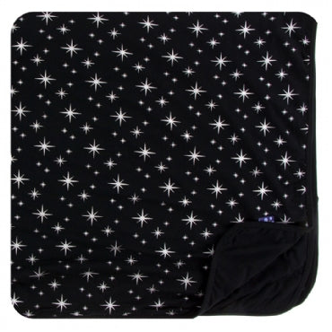 Holiday 2018 Collection Toddler Blanket by Kickee Pants - Silver Bright Stars