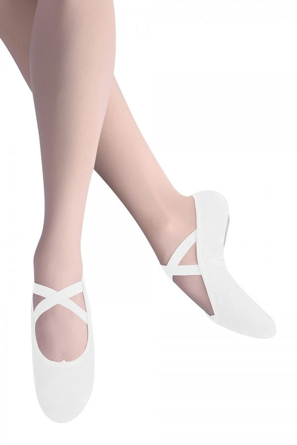 Leo Arabesque Canvas Ballet Slipper- Women LS2305L WHT White