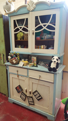 Blue and Cream Hutch