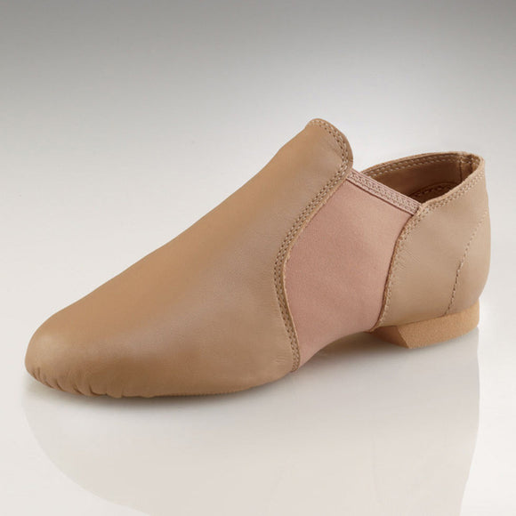 capezio e-series jazz slip on nude caramel tan EJ2C sale