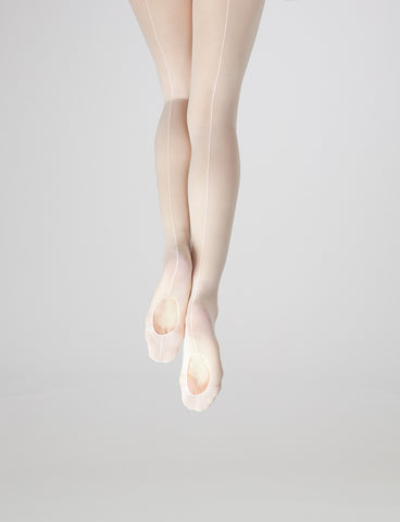 Capezio Mock Seam Mesh Transition Tights - Women #18