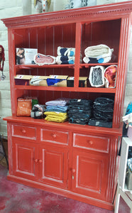 Antique Red Hutch