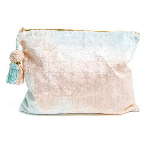 Blue and Blush Fade Pouch by Printfresh