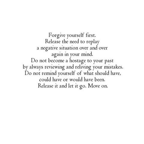 Forgive your ex and move on