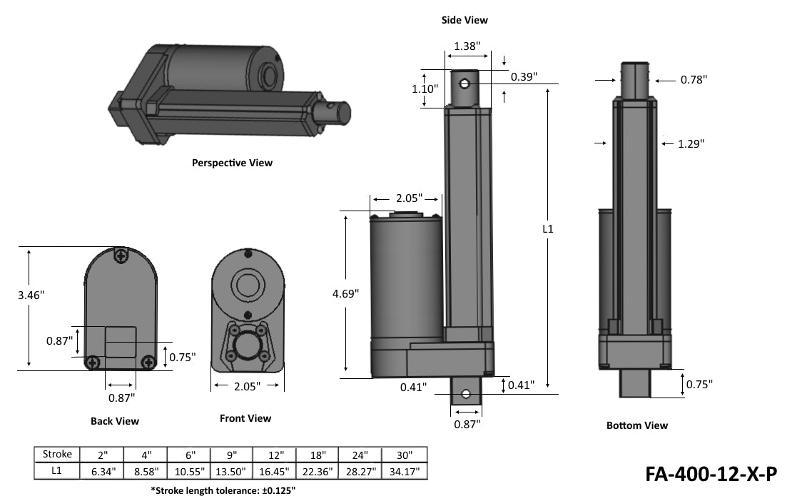 Premium High Force Technical Drawing