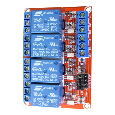5V Relay Module - 4 Channels