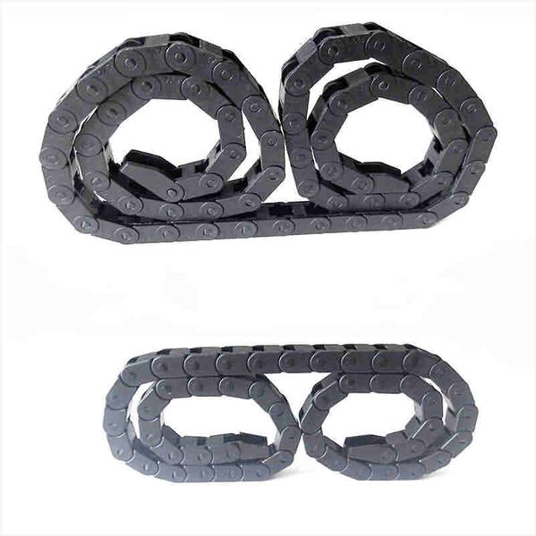 Nylon Drag Chain,  Cable management, Cable track  - Bridge Style / 2-side Cross Bar Close Type