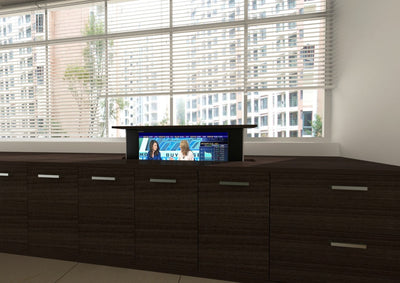 Pop-UP TV Lift in Cabinet or boardroom