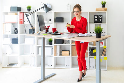 motorized sit stand desk