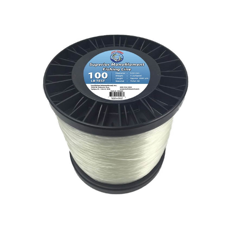 Joy Fish 5 Lb Spool Monofilament Fishing Line-100Lb Clear