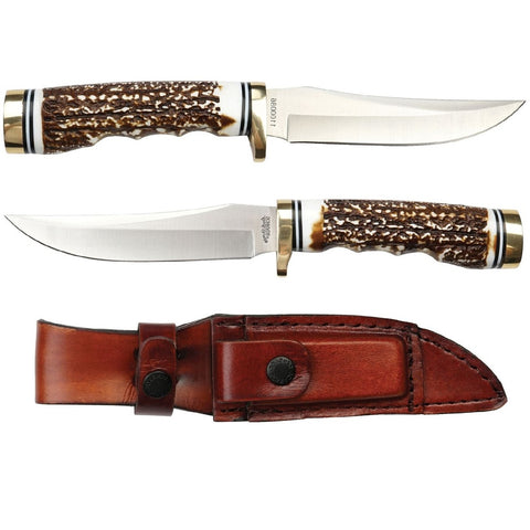Uncle Henry Fixed Blade 5.0 in Blade Staglon Handle