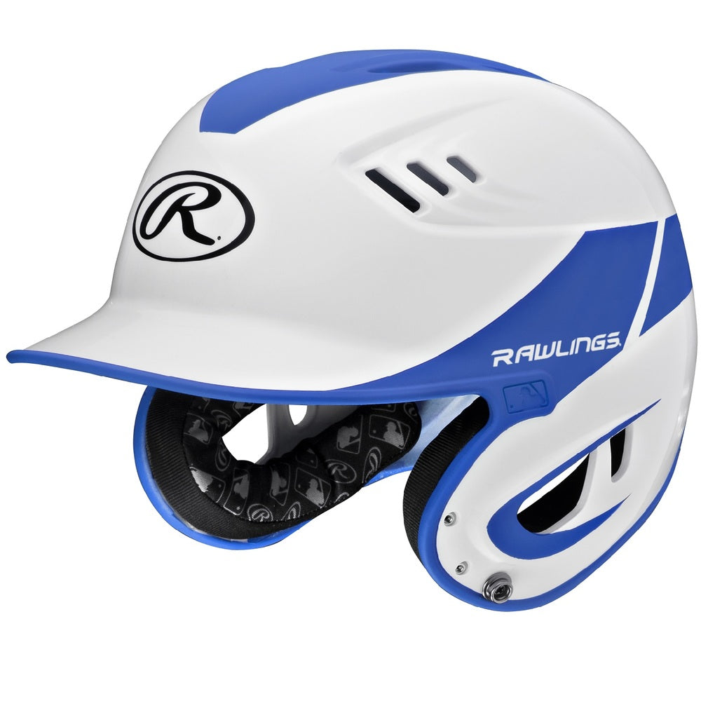Rawlings Velo Series Senior 2-Tone Home Batting Helmet-Blue