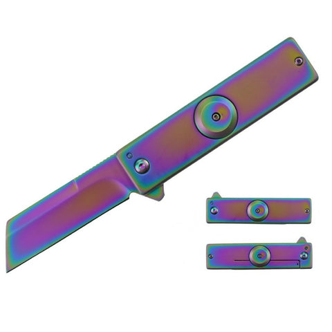 Impulse Product Spinner Folder 3.0 in Rainbow Blade and Hndl