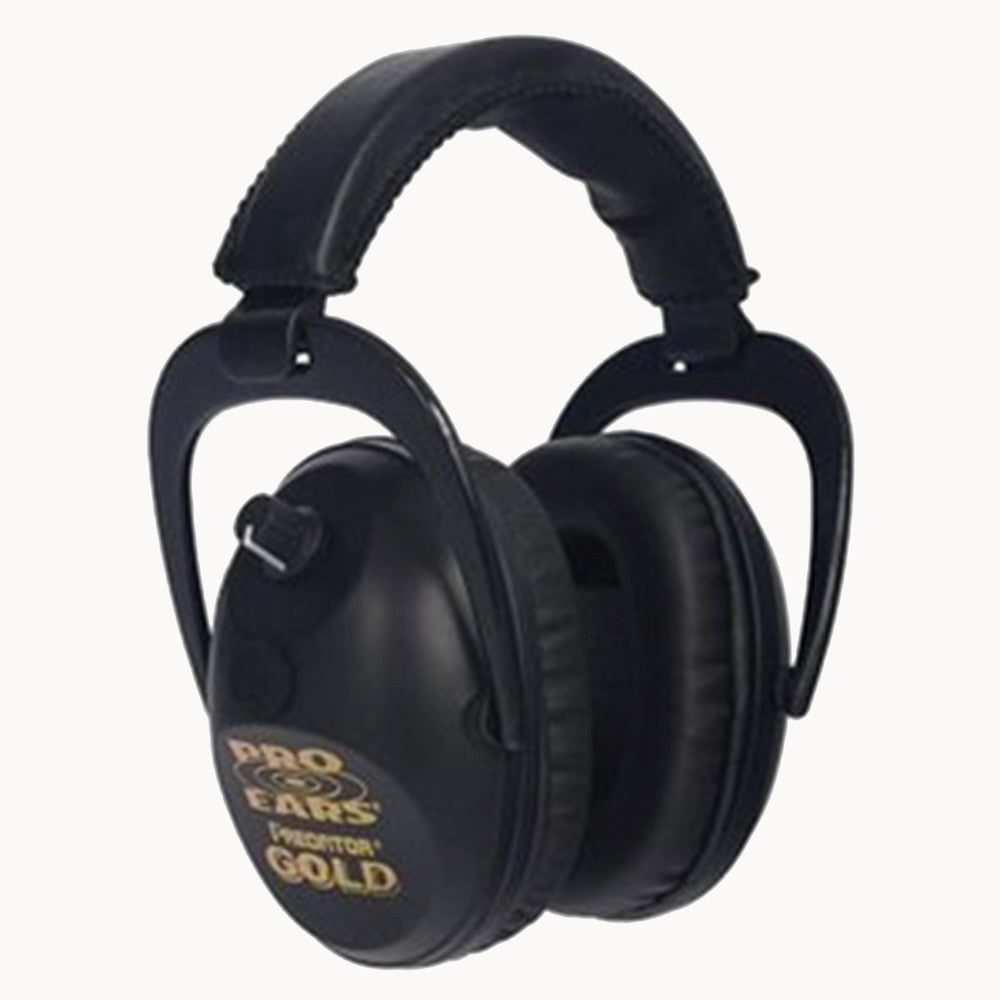 Pro Ears Predator Gold Series Ear Muffs Black GS-P300-B