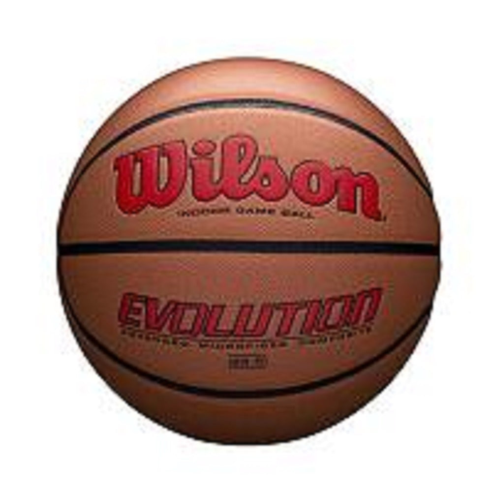 Wilson Evolution Official Size Game Basketball-Scarlet