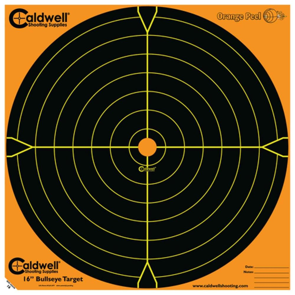 Caldwell Orange Peel 16 Bulls-Eye - 10 Sheets