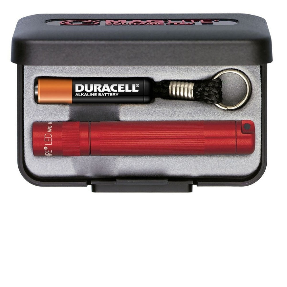 MagLite Solitaire LED AAA Flashlight Presentation Box, Red