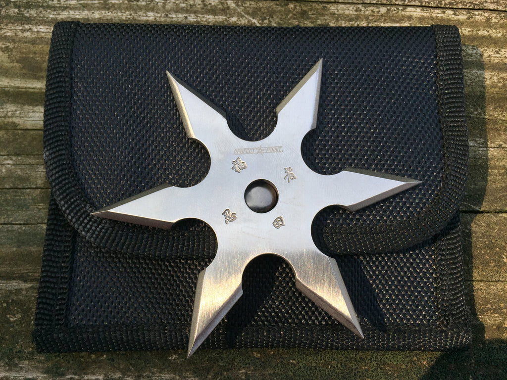 "Perfect Point 3.75"" 6-Point Heavy Duty Ninja Throwing Star-Silver"
