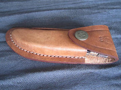 Custom Damascus Knife leather sheath