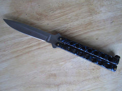 Heavy Duty Butterfly Knife Blue