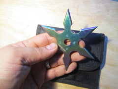 "6 Point Ninja Throwing Star- 3.75"" in hand for size"