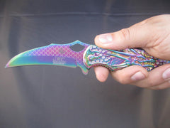 "MASTER COLLECTION SPRING ASSISTED DRAGON KNIFE 4.75"" CLSD MC-A037RB"