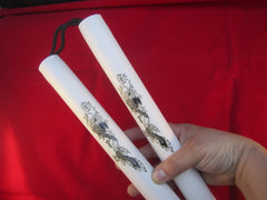 "Foam Practice 12"" Nunchucks - White"