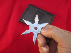"3"" 6-Point Heavy Duty Ninja Throwing Star-Silver"