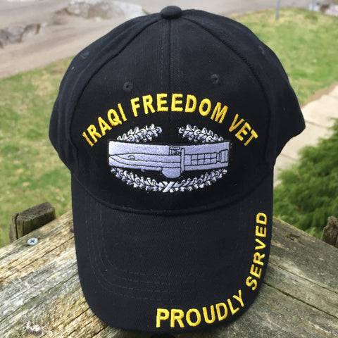 United States Military Iraqi Freedom Cap Hat US 100% Cotton Black