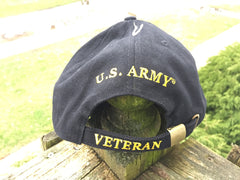 United States Army Veteran Cap Hat US 100% Cotton Black