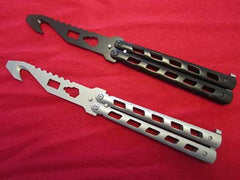 Training Practice Butterfly Knife Blunt Blade Balisong Guthook Legal