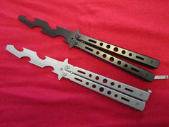 Training Practice Butterfly Knife Blunt Blade Balisong Bottle Opener Legal