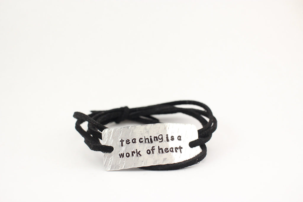 Teaching Is A Work Of Heart, Wrap Bracelet