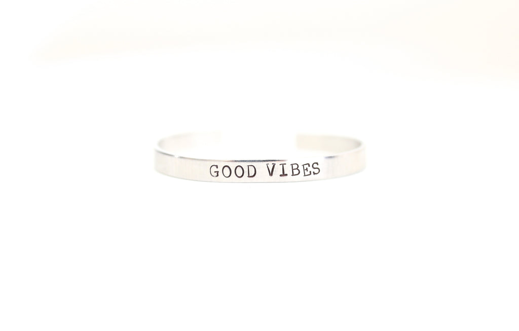 Good Vibes Skinny Cuff