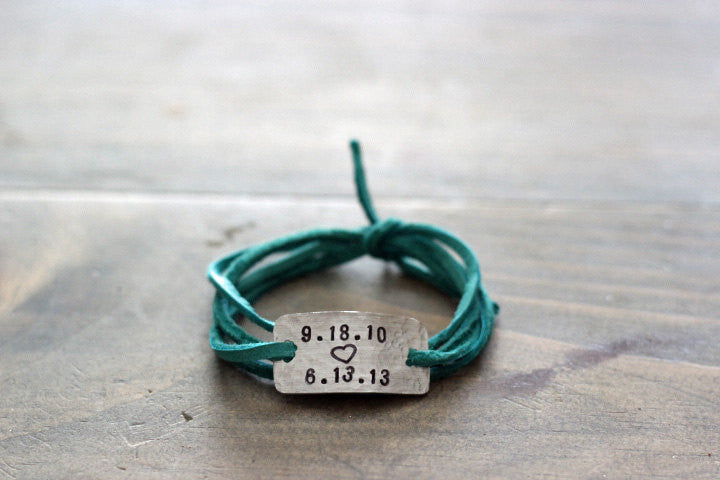 Personalized Mother's Wrap Bracelet