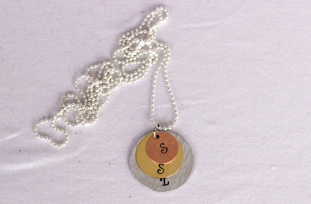 Custom Mother's Necklace with 3 circle charm