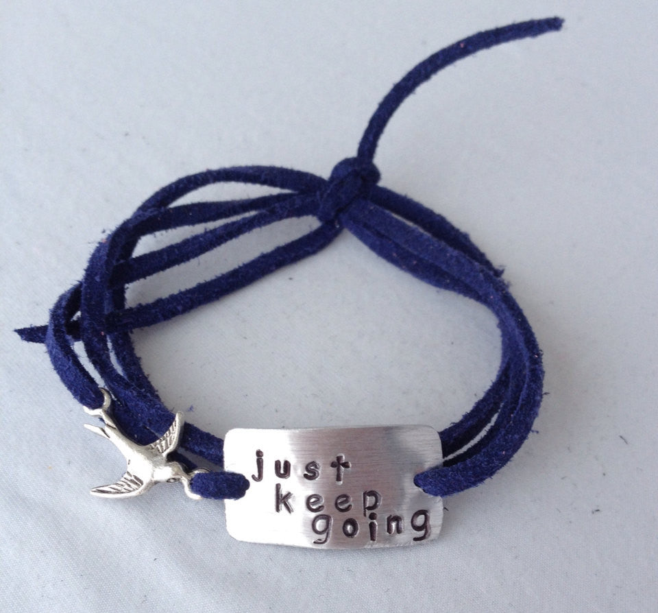 Just Keep Going Wrap Bracelet