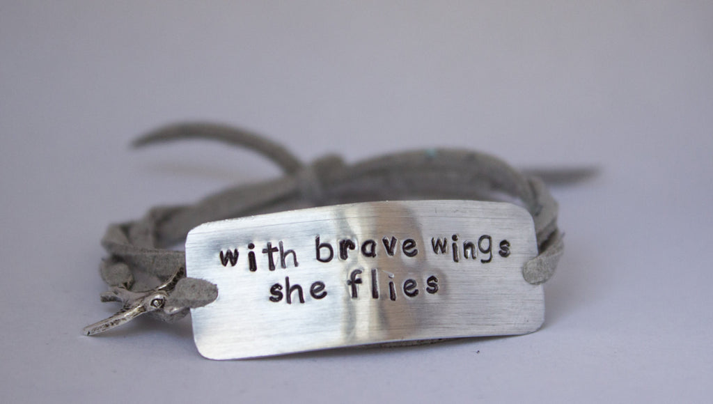 With Brave Wings She Flies, Wrap Bracelet